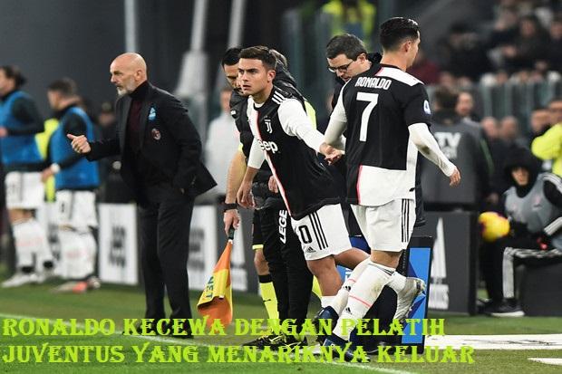 Ronaldo Kecewa Dengan Pelatih Juventus Yang Menariknya Keluar
